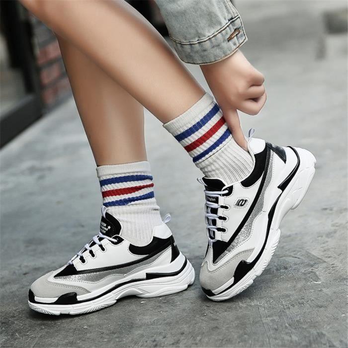 Chaussures Taille De Loisirs1 blanc Classique Durable Baskets Grande Marque Femme Noir Sneakers Luxe Plus TwxWR56qZ