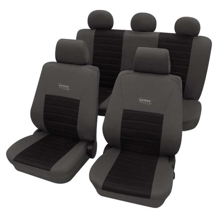 Housses de siège auto Gris et Noir - Opel Combo Van Body - Break 2001-Prés