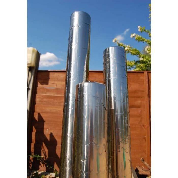 1.08m/65cm Fontaine de Jardin à 3 tubes acier inox avec LEDs - Achat ...