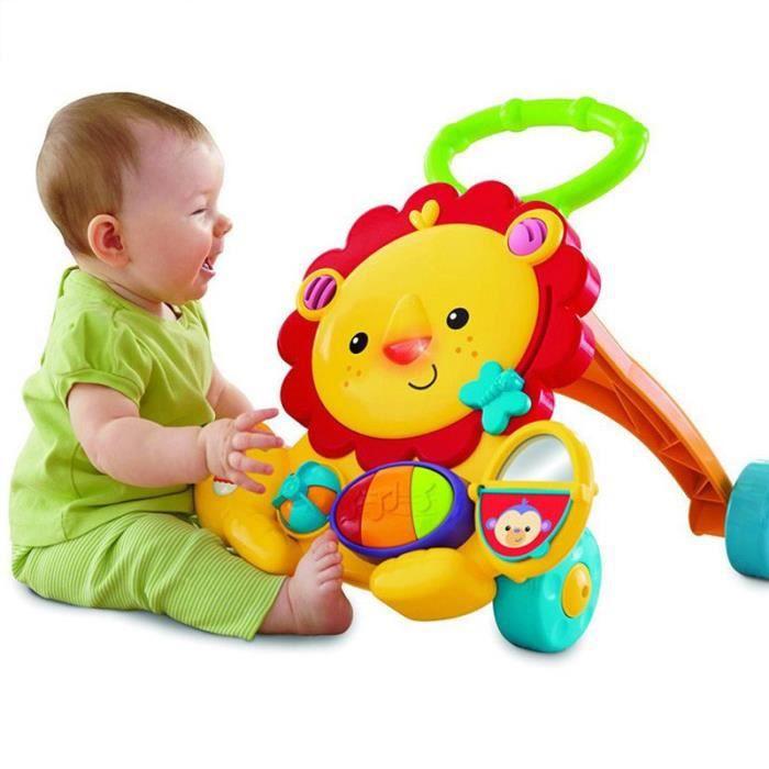 Prix Multi-fonction Baby Walker Lion Car Activités pour enfants Musical Baby Walker avec roues Voiture réglable