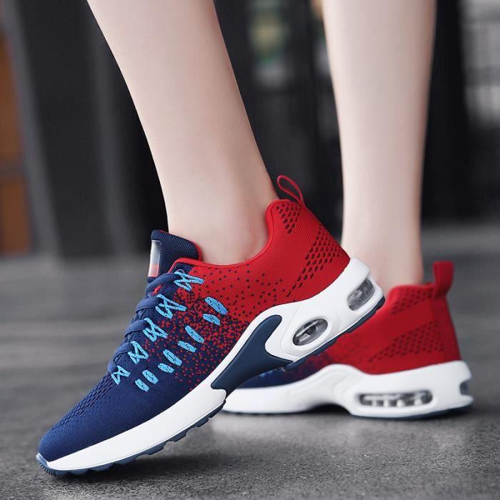 Homme Sport De Baskets Air rouge Mixte noir Bleu Chaussures Femme TxHBdq4B