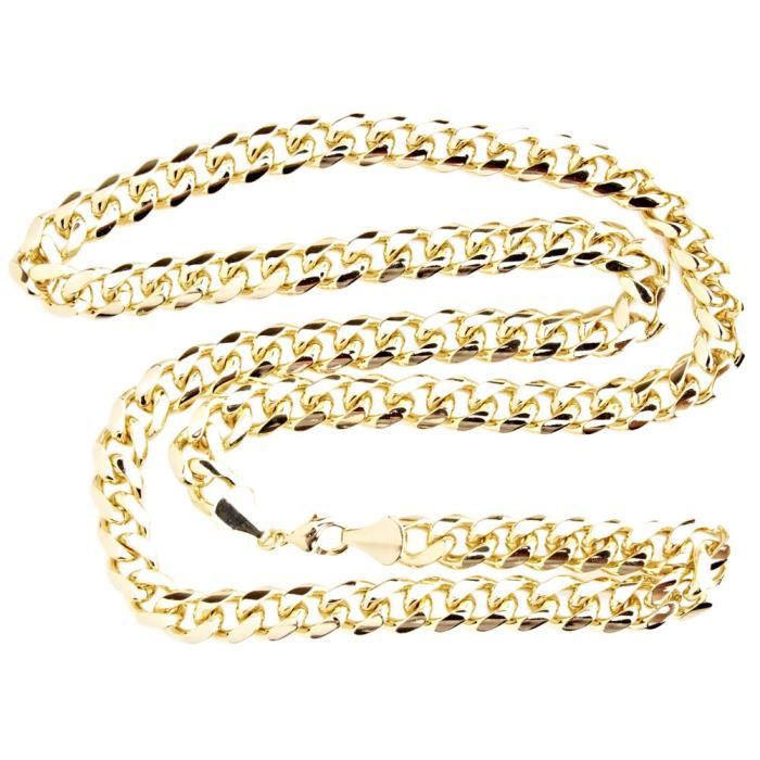 Iced Out Bling MIAMI Curb Collier - 10mm or
