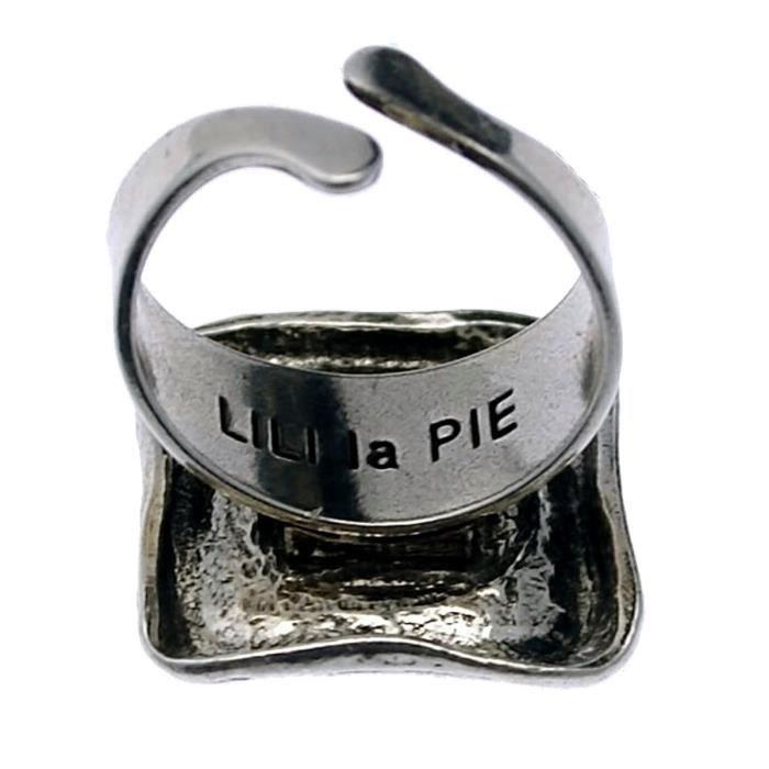Taille Unique - Bague en métal et pierre collection KARON - Couleur Marketing : Rose - Composition : Métal