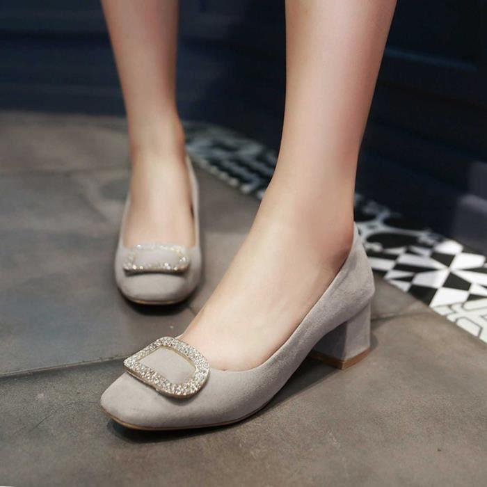 Chaussure Femmes Solide Décoration élégante Casual