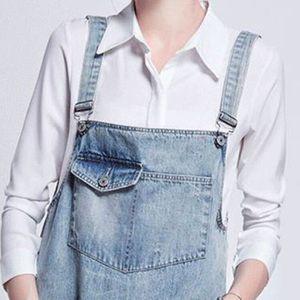 jeans a bretelles femme achat vente jeans a bretelles. Black Bedroom Furniture Sets. Home Design Ideas