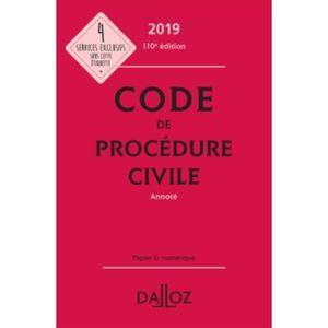 LIVRE DROIT CIVIL Code de procédure civile annoté. Edition 2019