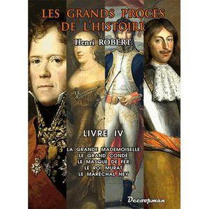 LIVRE HISTOIRE FRANCE Les grands procès de l'histoire