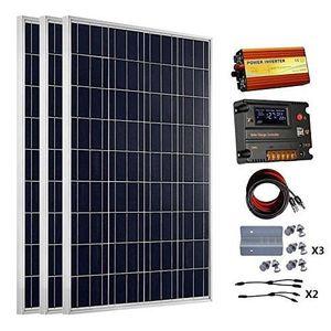 KIT PHOTOVOLTAIQUE ECOWORTHY Panneaux solaire 300W 12 V 3 Kits - 100W