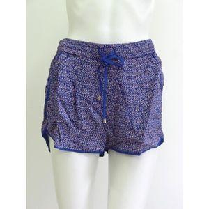 SHORT Short ICHI bleu et rose Taille S