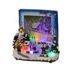 VILLAGE - MANÈGE Décor de Noel: Village lumineux 19x20x10 cm
