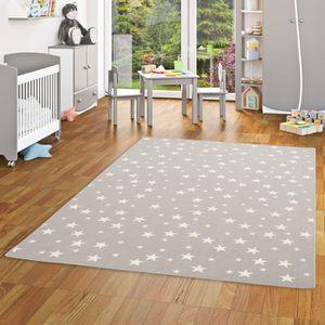 TAPIS Tapis de jeu pour enfant - motif etoiles -  gris [