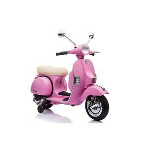 MOTO - SCOOTER Scooter électrique Vespa enfant 6V Rose