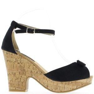 SANDALE - NU-PIEDS Sandales noires à talon de 10,5c…