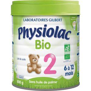 LAIT BÉBÉ PHYSIOLAC Bio Lait en poudre 2ème âge - 800 g - De
