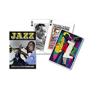 PORTE CARTE Piatnik 1645 - Cartes à Jouer - Jazz - 55 Pièces U