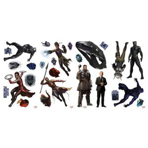 STICKERS 26 Stickers Black Panther Marvel