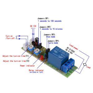 RELAIS ÉLECTRONIQUE XCSOURCE DC 12V Module de Relais de Minuterie de T