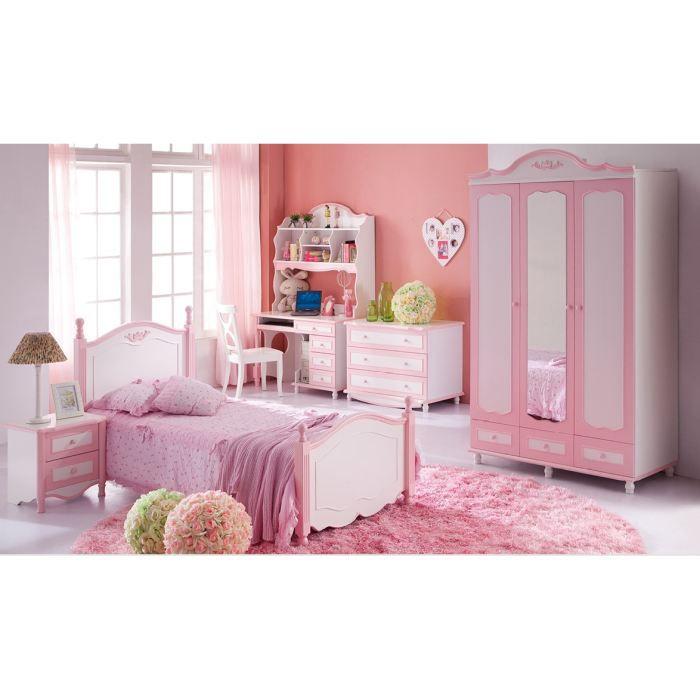 Chambre enfant complete Angelica - rose - Achat / Vente structure de ...