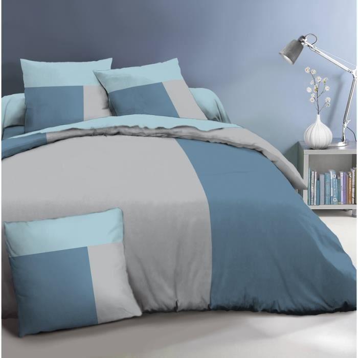 housse de couette coloree achat vente pas cher. Black Bedroom Furniture Sets. Home Design Ideas