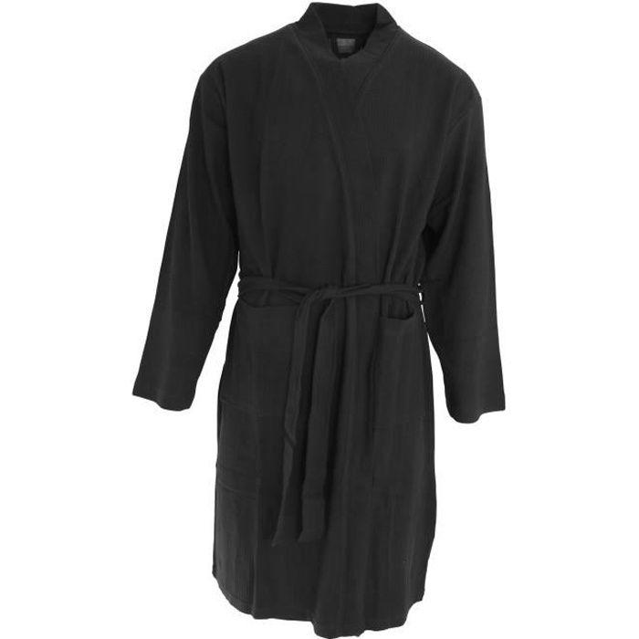 robe de chambre homme coton achat vente robe de chambre homme coton pas cher cdiscount. Black Bedroom Furniture Sets. Home Design Ideas