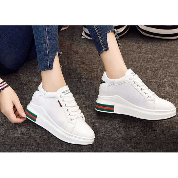 Femme Baskets Basses Chaussure basket Sneakers Augmenter les chaussures Chaussures occasionnelles
