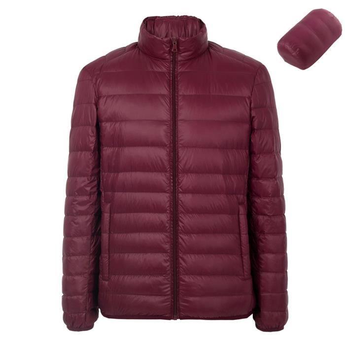 Hommes Down Jacket 90% Canard Blanc Doudoune Mode Légère Parka Zippée  Manche Longue Hiver Compression Manteaux Rouge ee34607c454f