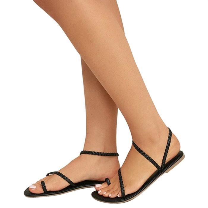 Noir Sandales Pour Lacets Plates Xym80509902bk Espadrilles Femmes D't nw86qdWCH