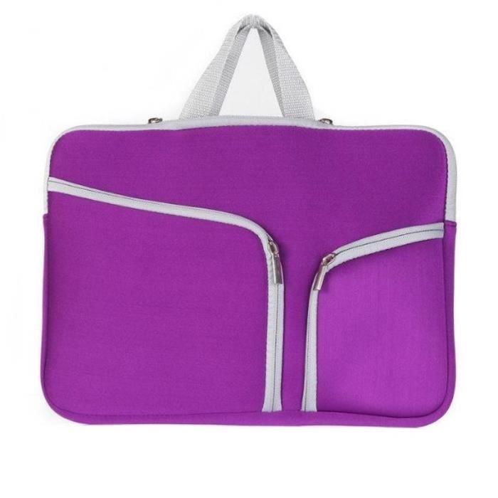 Bag Laptop Sacoche Pocket Macbook Violet Pro Main Double Sac 15 Zip À Pouces Mac ZxwqZC81