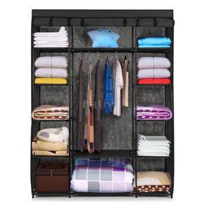 Penderie meuble armoire rangement linge vetement hanging Armoire de rangement chambre