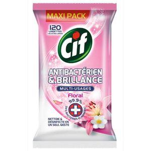 LINGETTE NETTOYANTE CIF Lingettes Antibactérien & Brillance - Floral -