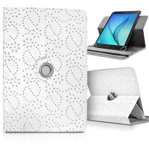 TABLETTE TACTILE Etui Support Universel L Diamant Blanc pour Tablet