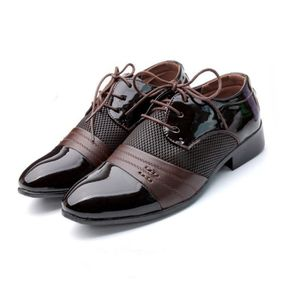 DERBY Hommes Business Oxfords Souliers simples Chaussure