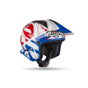 CASQUE MOTO SCOOTER Casque Trial AIROH Trr S Convert Blue Gloss-ADULTE