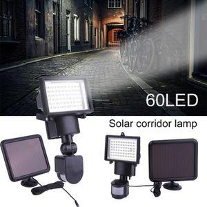 BALISE - BORNE SOLAIRE  Projecteur Solaire LED 60 LED Capteur de Mouvement