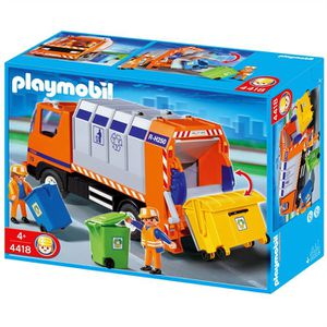 UNIVERS MINIATURE Playmobil Camion Recyclage Ordures