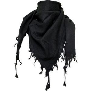 ECHARPE - FOULARD Foulard Cheche Keffieh Noir uni 100% Coton 303c105102e