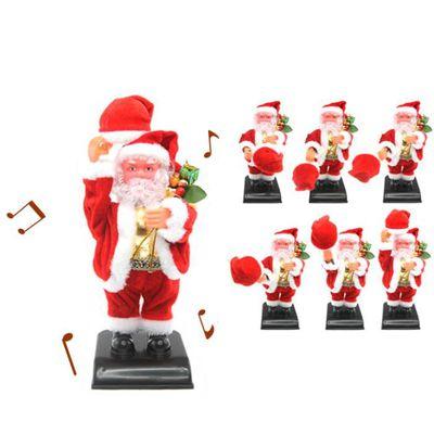 AUTOMATE ET PERSONNAGES Père Noël automate avec chapeau et Sac cadeaux