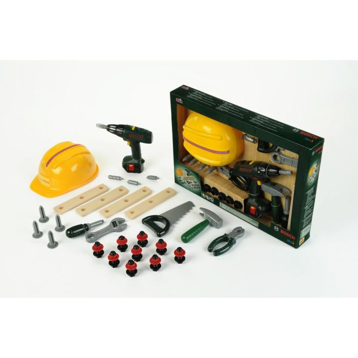 BOSCH Grand ensemble de 36 outils avec perçeuse-visseuse sans fil. Garçon. A partir de 3 ans - Livré à l'unitéBRICOLAGE - ETABLI - OUTIL