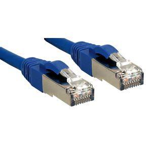 LINDY Câble réseau patch cat.6 S/FTP PIMF Premium - cuivre - LSOH - 500MHz - 0,5 m - bleu