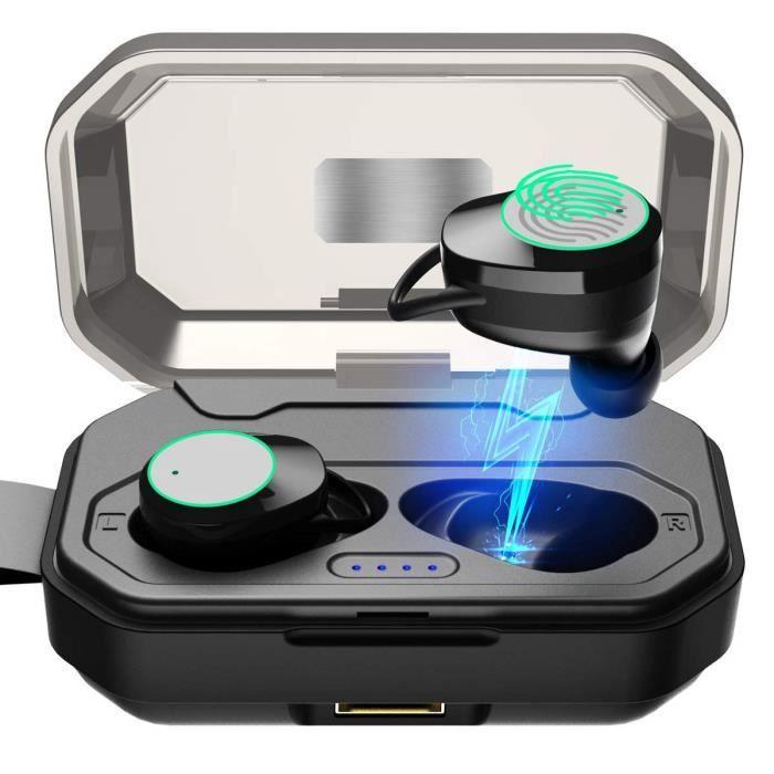 Arbily Oreillette Bluetooth 5.0 Sans Fil De Qualité 3000mah Etui Charge X6 Écouteurs Avec Micro