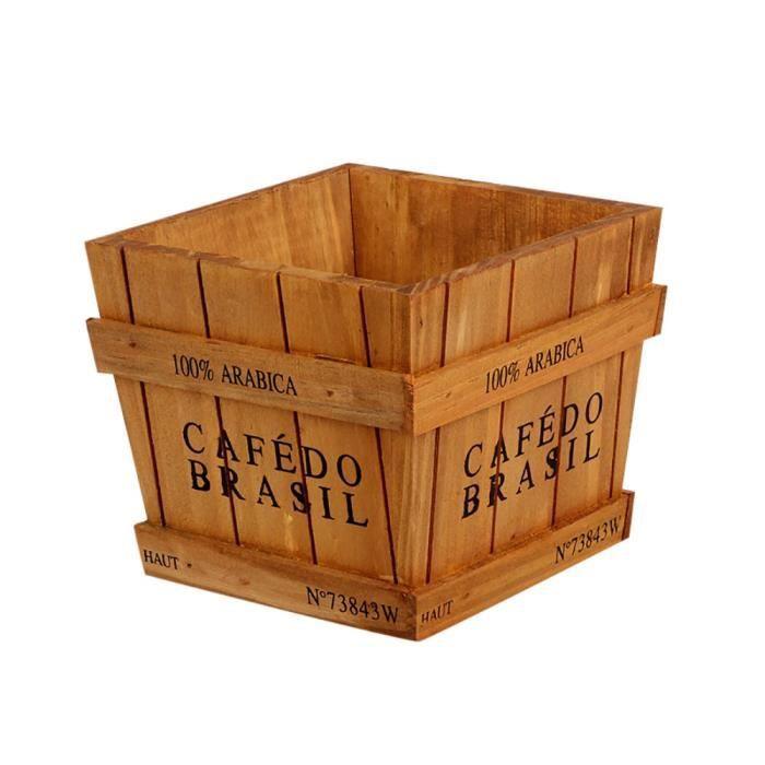 POUBELLE - CORBEILLE ouniondo® Boîte de jardin en bois fenêtre auge pla