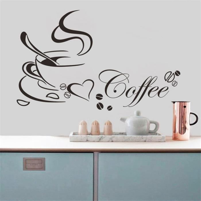 Coupe Amovible Cafe Cuisine Wall Sticker Pour Home