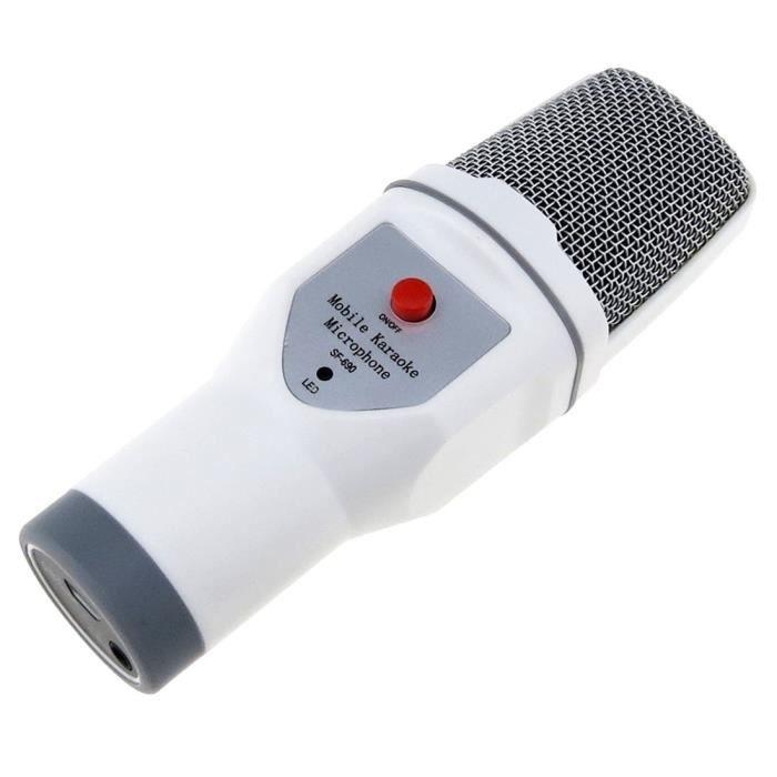 Microphone Filaire Prise Jack 3.5 Mm Compatible Avec Smartphones