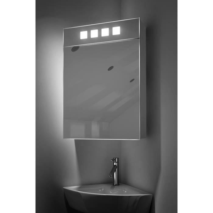 colonne armoire sdb miroir armoire dangle diego avec anti bue prise - Miroir D Angle Pour Salle De Bain