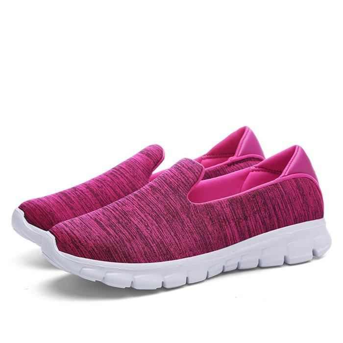 Moccasin Femme Léger Durable 2018 Nouvelle mode Moccasins Meilleure Chaussure Confortable Respirant Grande Taille rose 35-42