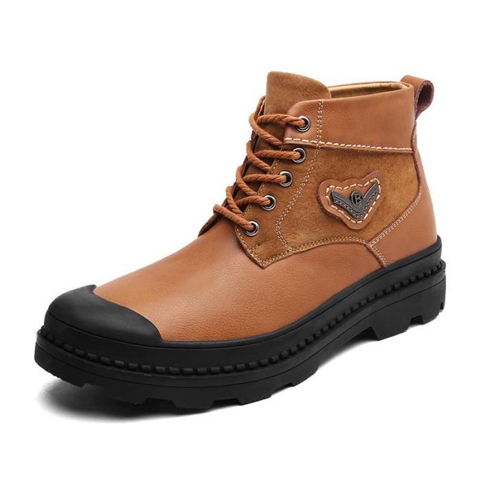 6751c212a60 Bottine-boots homme mode décontractée SHT-XZ3062 Marron Marron ...