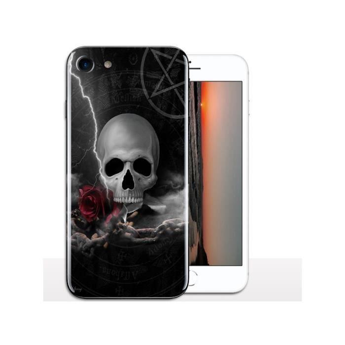 coque iphone 8 tête de mort