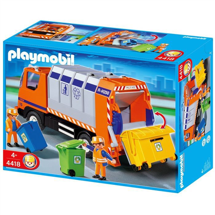 playmobil camion recyclage ordures achat vente univers miniature cdiscount. Black Bedroom Furniture Sets. Home Design Ideas