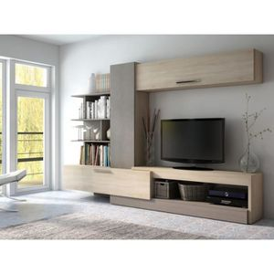 Meuble tv taupe achat vente meuble tv taupe pas cher for Meuble tv yvan