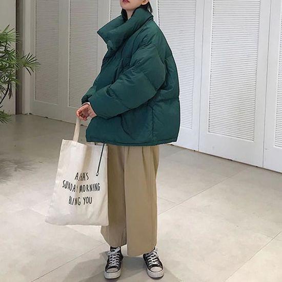 Outwear Thicker Coton À Parka Chaud Femmes Veste Manteau Capuchon Slim Long Facile Vert EBWqqFc